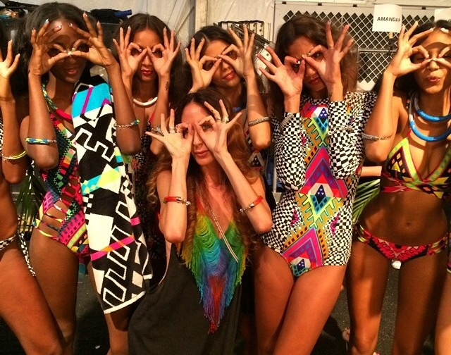 Behind the scenes at the Mara Hoffman runway @ the Raleigh