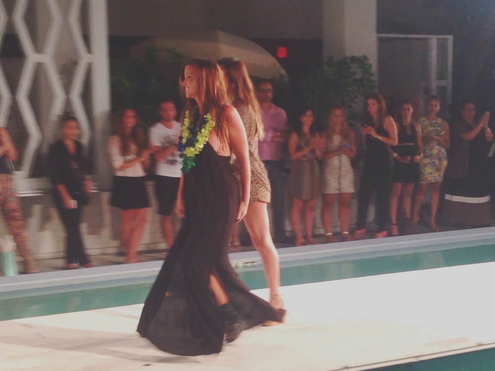 Lyndie Irons & Naomi Newirth walking the finale of their Acacia runway show