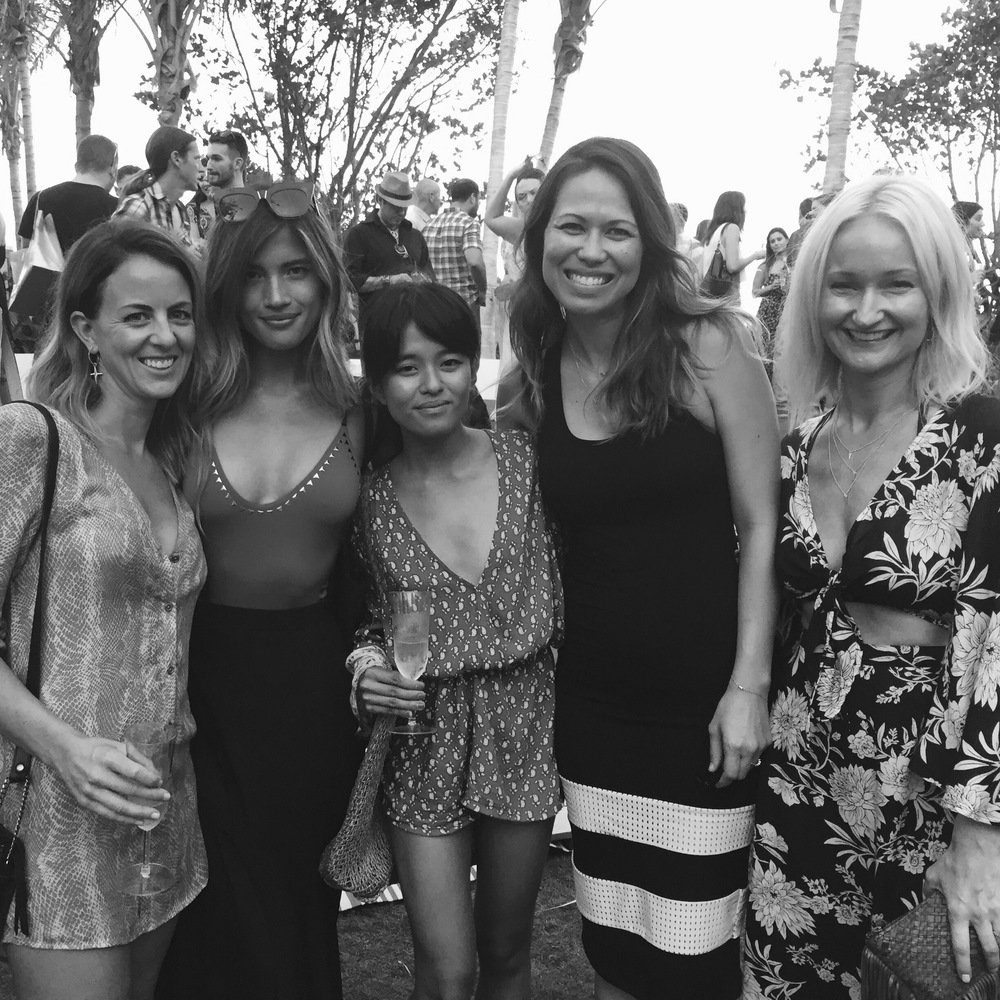 Love these ladies! Summer Rapp of  Amuse Society , Rachel Barnes Horowitz, Olivia Lopez of Lust for Life, and Mandy Fry of Amuse Society |  The Tropicale at The Edition