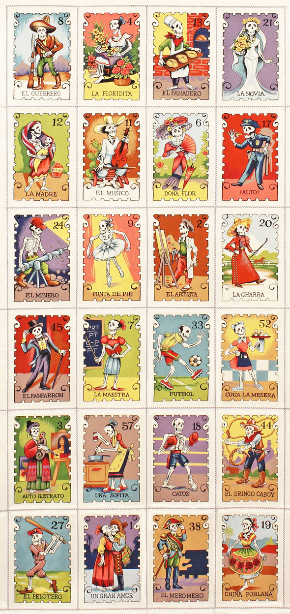 Vintage Loteria Cards