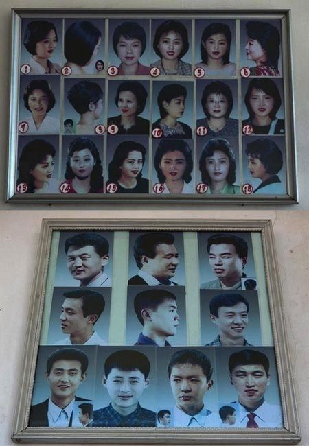 "wfmu :       The 28 Hairstyles Approved by the Government of North Korea              As if living in North Korea wasn't bad enough already, residents now can't sport the ""Avalon"" hair style."