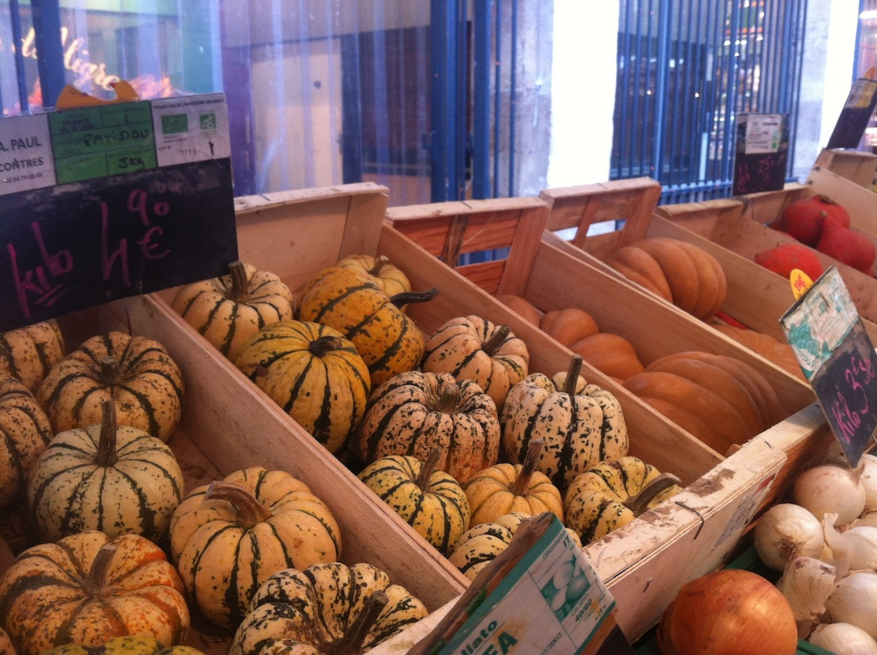 a diverse variety of squash can be found in Paris' markets this season