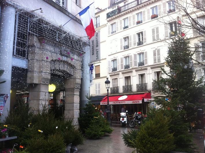 Sapins de Noël at Marché St. Martin