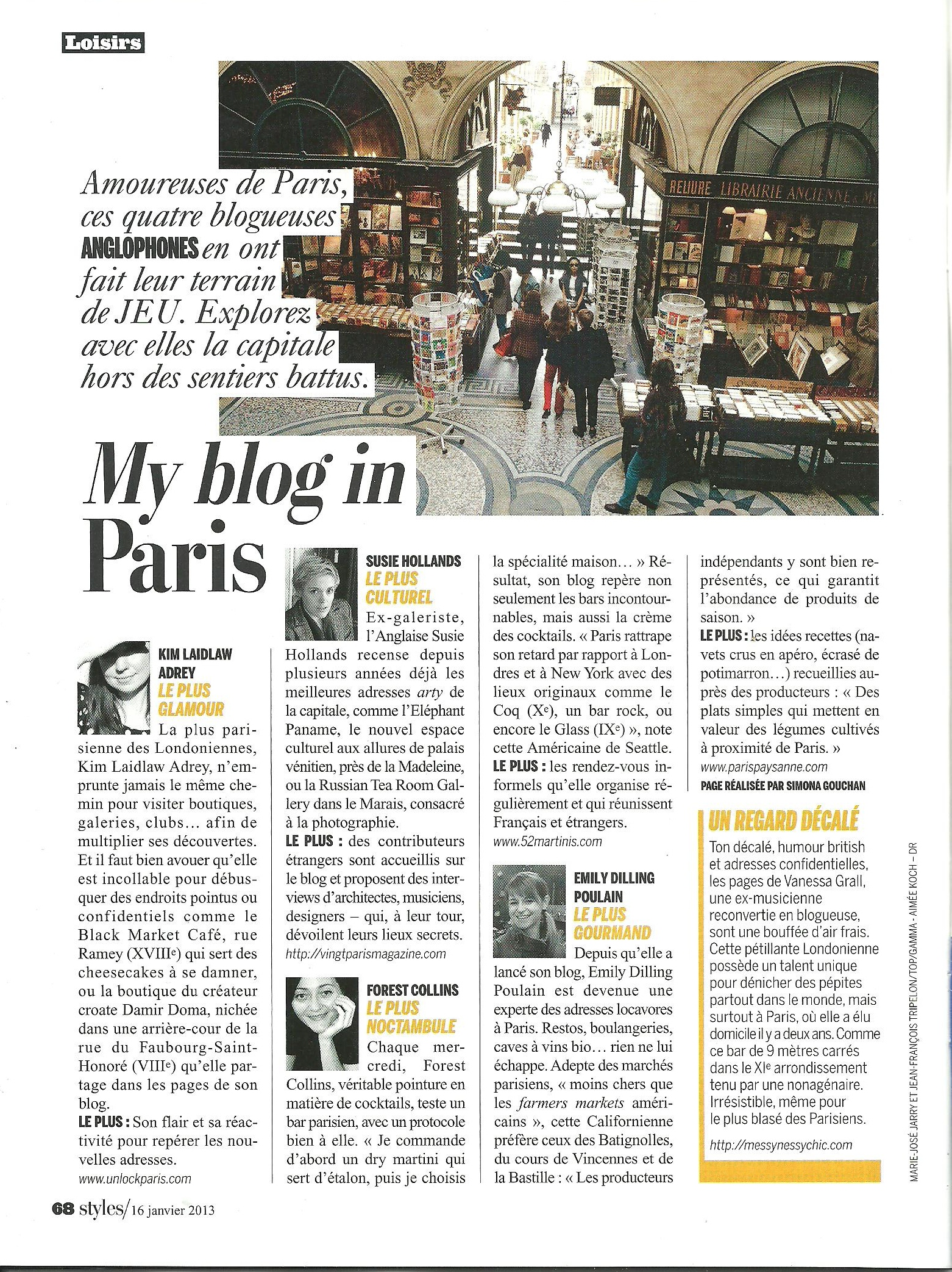 Paris Paysanne is a featured blog in L'Express Styles