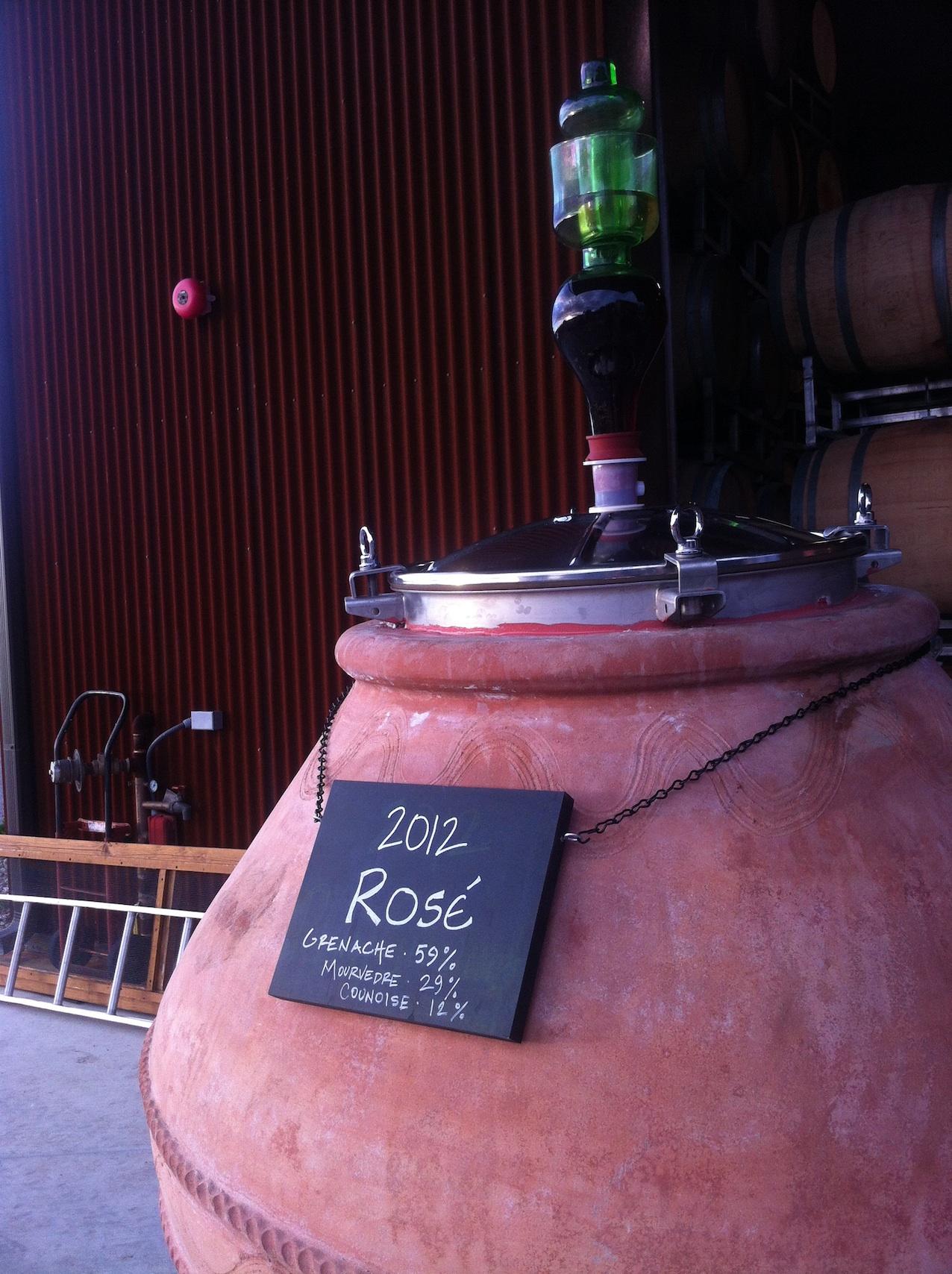 An Italian amphora storing Grenache based Rosé