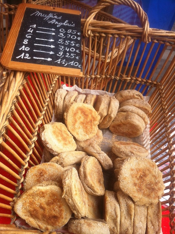 O'Regal English Muffins at Marché Raspail