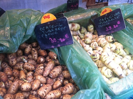 More chic and cher tubers at Marché St. Eustache-Les Halles