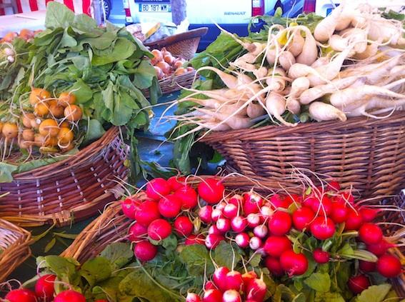 Spring veggies at Marché Bastille