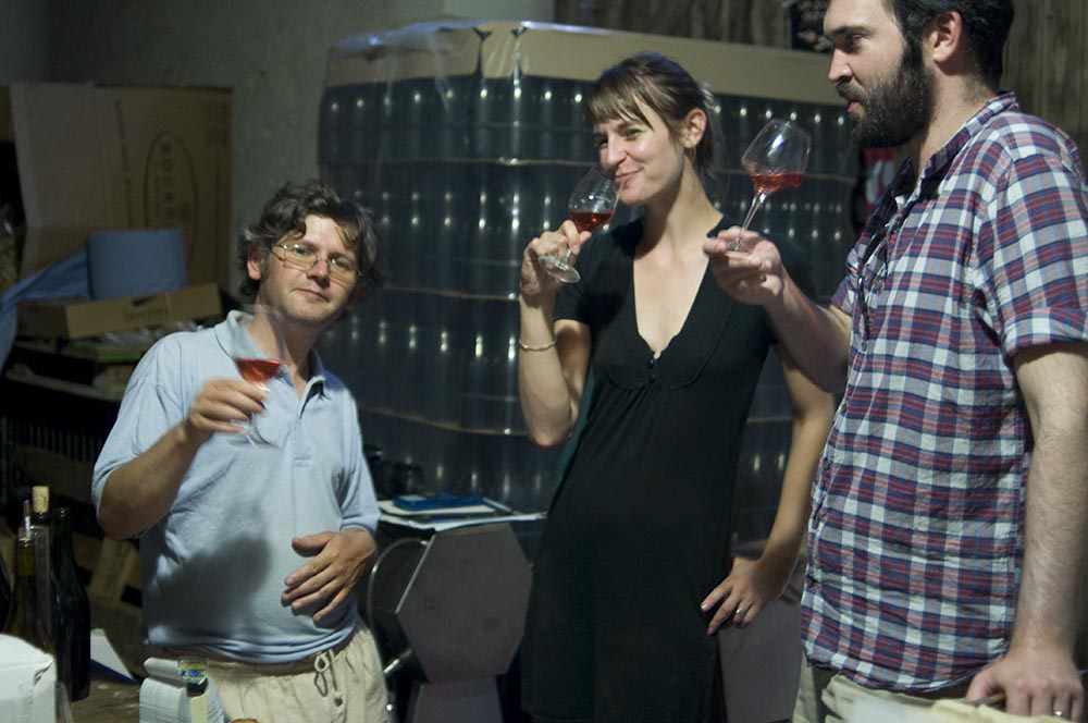 Enjoying wines at Domaine Bel Aire. Photo courtesy of Terresa Murphy