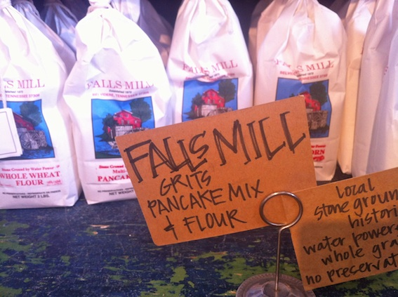 Falls Mills grits and pancake mix, milled locally in Tennessee