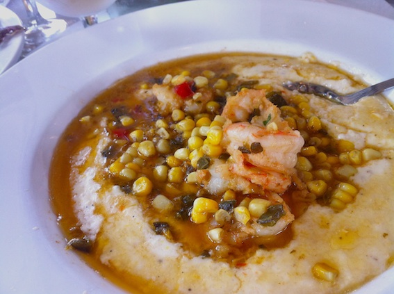 Grits and Shrimp for lunch at Marché in East Nashville