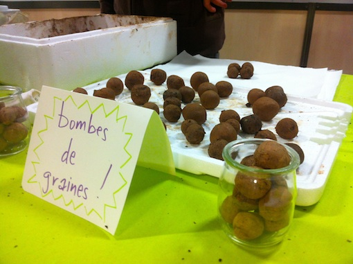A fresh batch of Seed Bombs at Paris Vegan Day