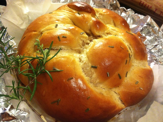 Melanie's fabulous Rosemary Honey Challah