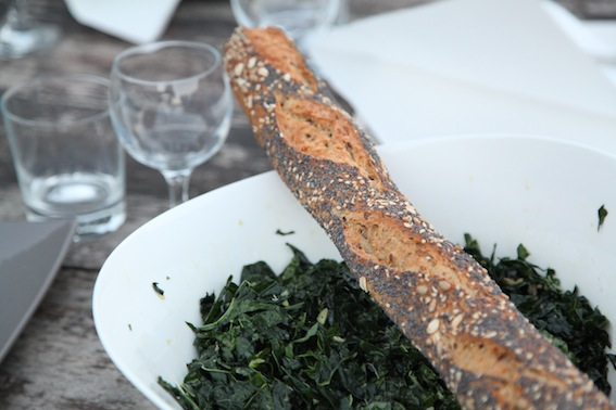 Kale + Baguette, together at last.