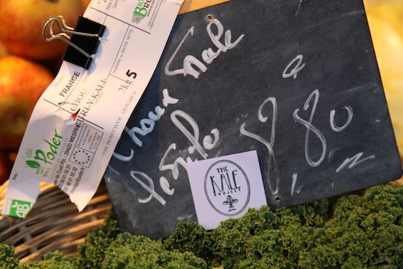 Kale Spotted! Kale can now be found in a number of Paris markets.