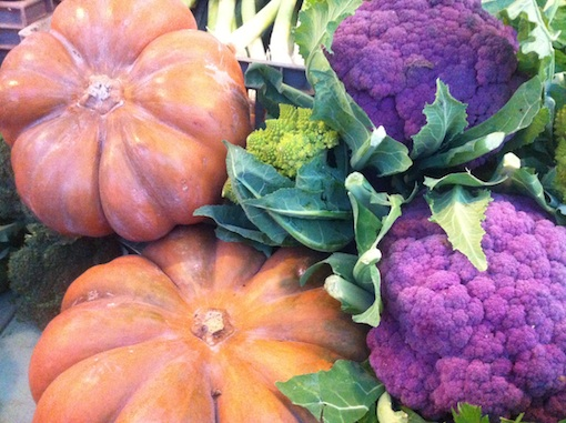 Fairytale Pumpkins and Purple Cauliflower