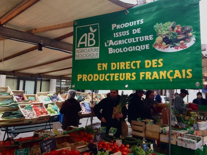 Fruits and Vegetables sourced from French farmers at Marché Bio Brancusi