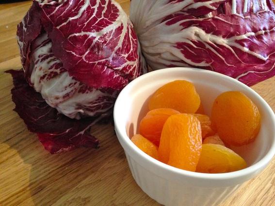radicchio and apricots