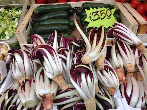 Radicchio di Treviso spotted at a market in Rome