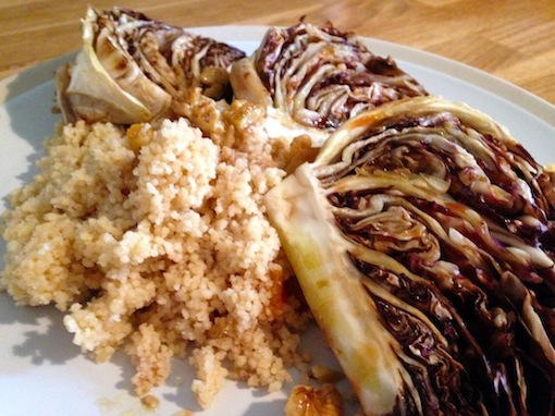roasted radicchio with couscous