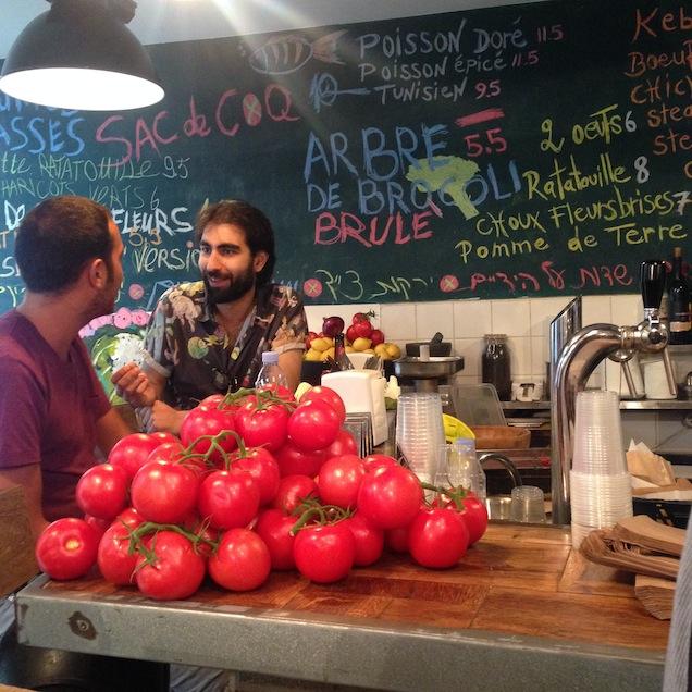 Fresh veggies abound at Miznon  photo courtesy of Stacey Pedersen Keating