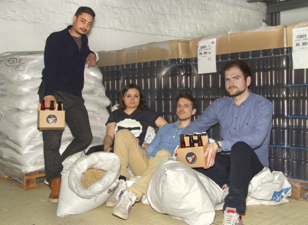 Paul Armbruster (far right) with his HopBuddy co-founders
