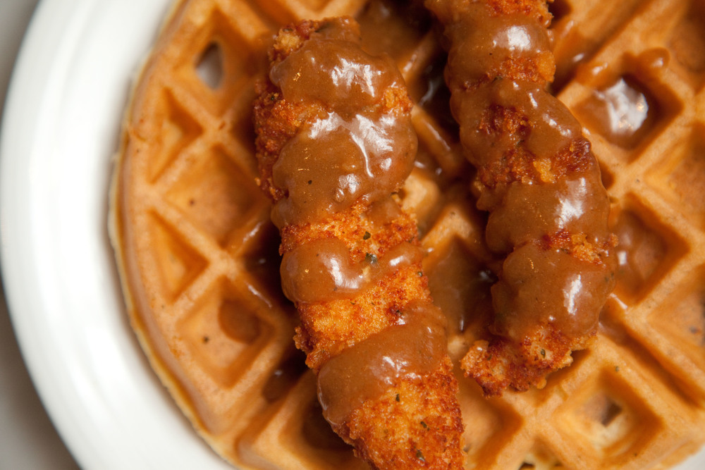 Wheeler del Torro chicken and waffles