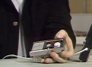 Kellman's electronic clothesbrush from Revenge of the Cybermen