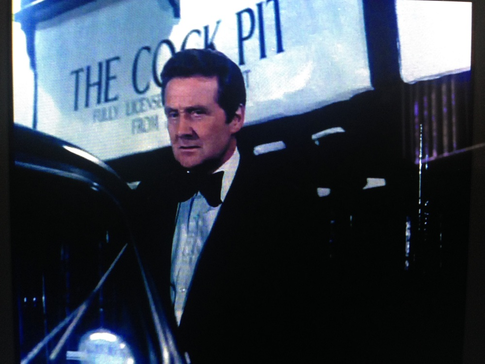 Patrick Macnee as John Steed in the opening titles for The New Avengers (1976)
