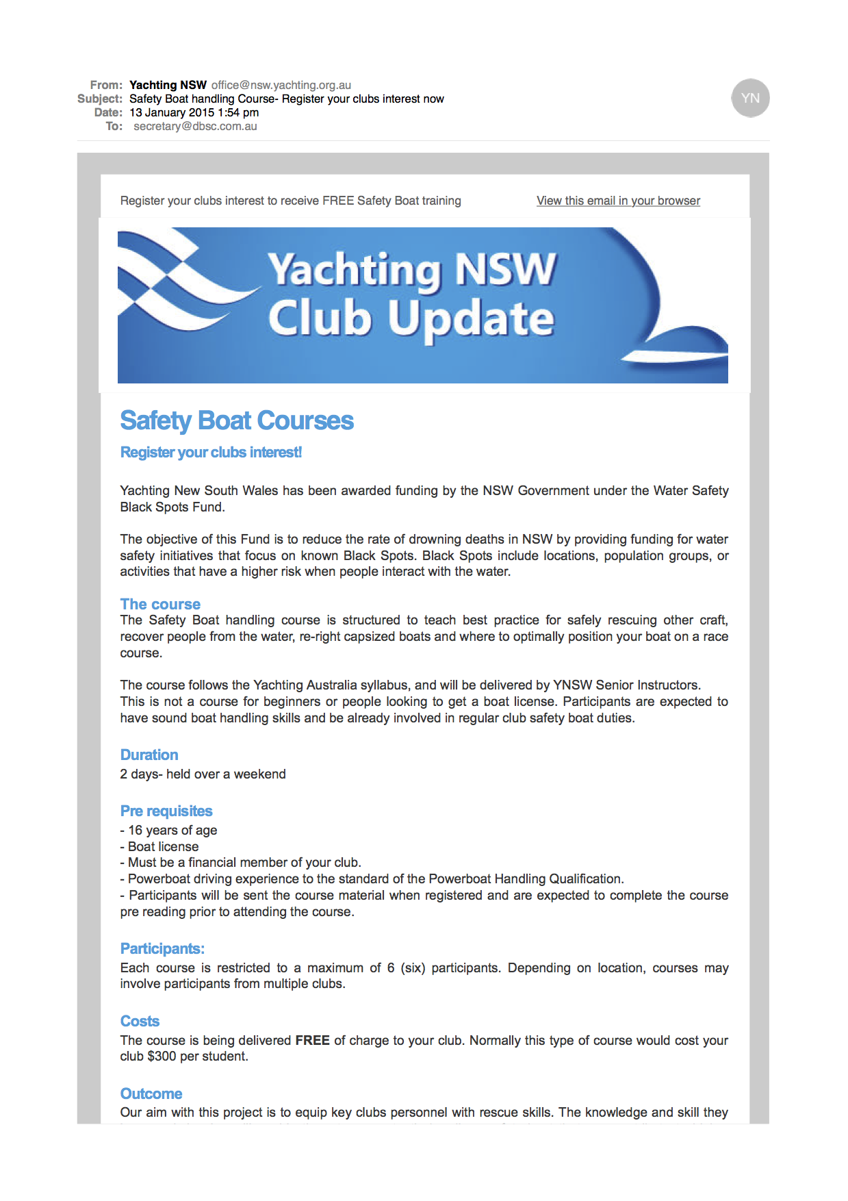 69ffe869642 Free Safety Boat Course — Double Bay Sailing Club