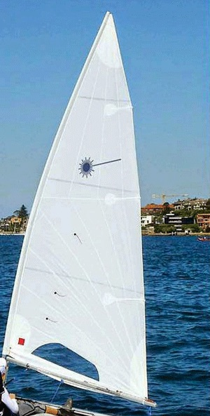 New radial cut sail being tested in DBSC waters adjacent to the People's Democratic Republic of Point Piper