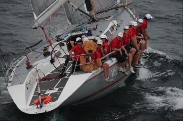Ben the Bear: keeping an eye on the competition as tactician aboard 2014 Sydney to Hobart winner, Wild Rose.