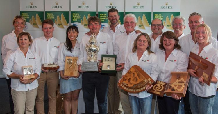 Reigning Rolex Sydney Hobart Champions 2014 .