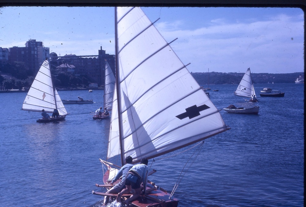VJ launching for the 1963 Double Bay Regatta.  Photo: Arthur Lowndes