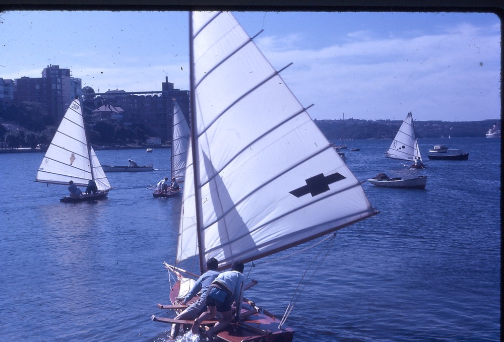 A few less boats moored in Double Bay in 1963. Photo by Arthur Lowndes