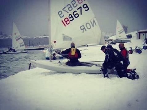 Now this is Winter Sailing!