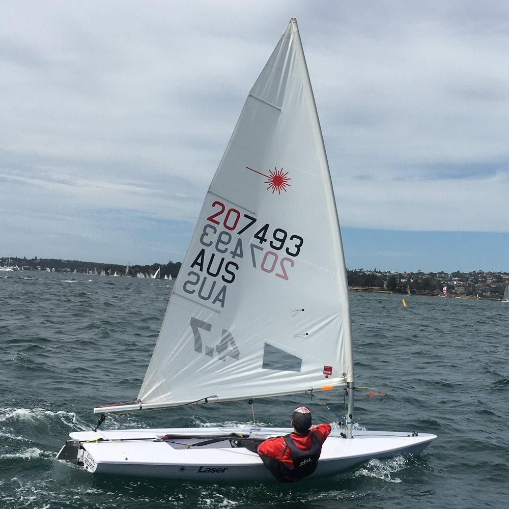 Daniel Costandi sailed well in the 4.7s