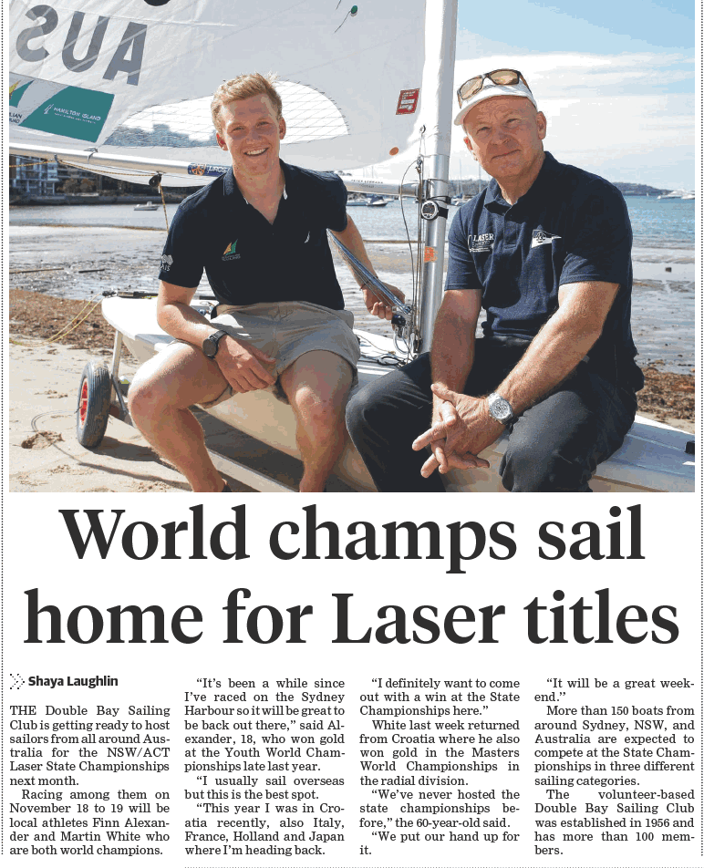 Article from 18 October Edition of The Wentworth Courier