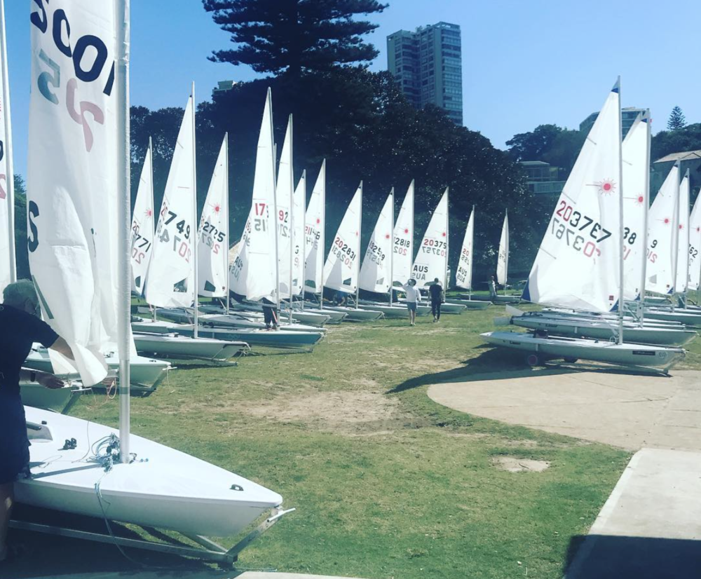 A large fleet presented for the Club Championships last Saturday