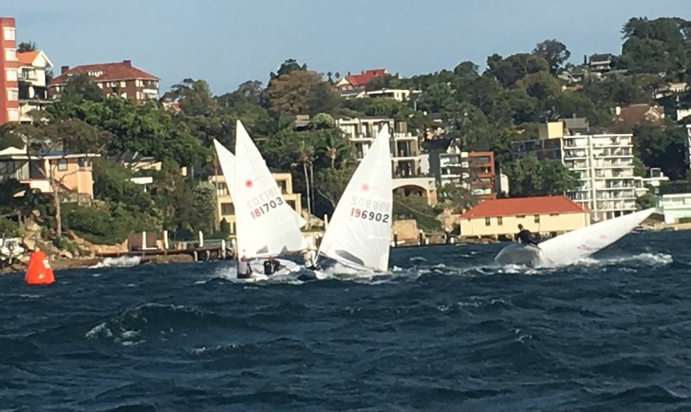 A Gust Plays Havoc with the Fleet at the Bottom Mark