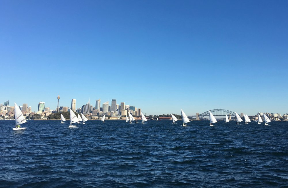 We had the beautiful Sunday morning harbour to ourselves for heats 4-6 of the Winter Championship.  Photo by Clare Alexander