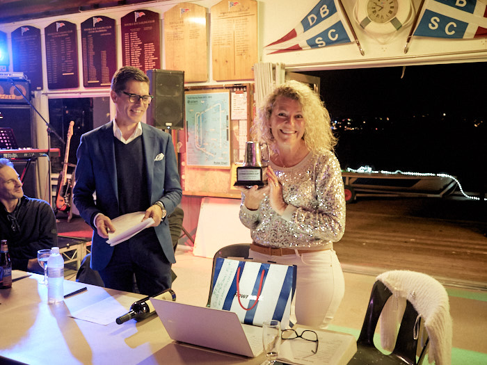 Clare Alexander wins Club Person of the Year.  Photo by Peter Collie