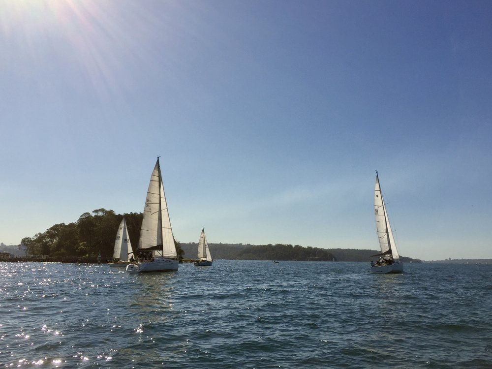 The Big Boats at the Start.  Photo by: Peter Collie
