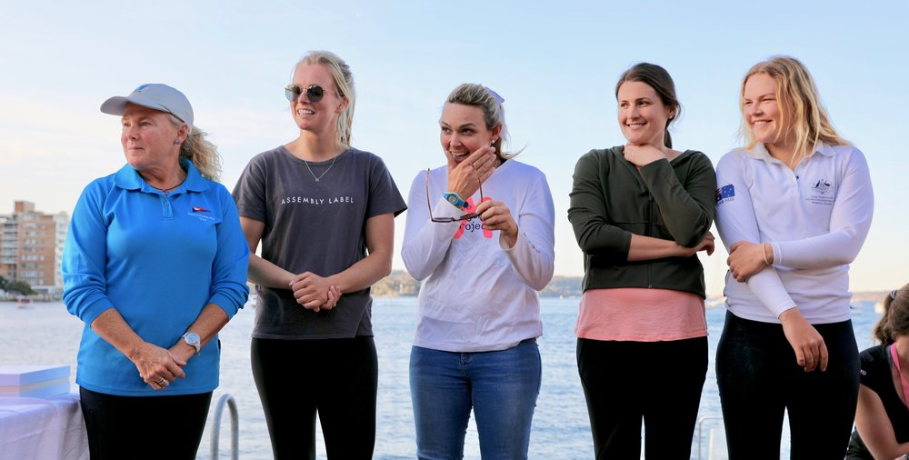 Women's Regatta Coaches sponsored by the NSW & ACT Laser Association. Photo by Hadrien Bourely.