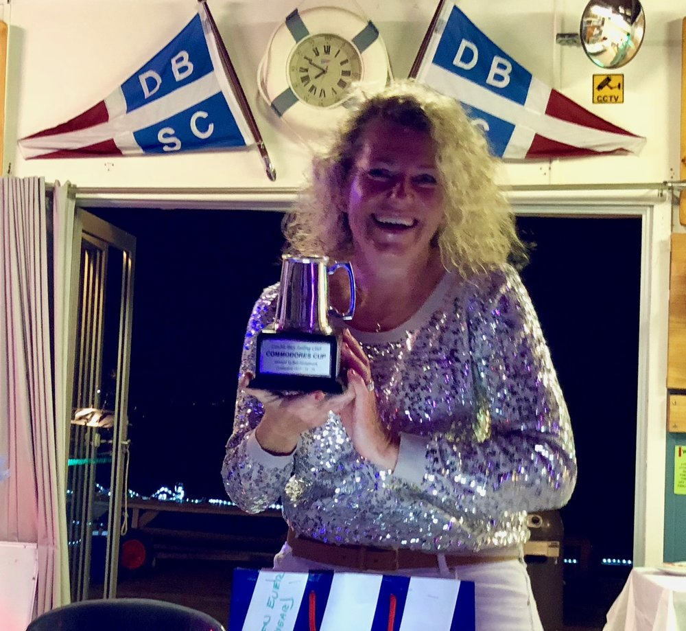 Clare Alexander winning the Club Person of The Year Trophy in May.