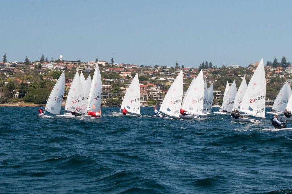 The large fleet on Saturday. Photo by Max Dzhura.