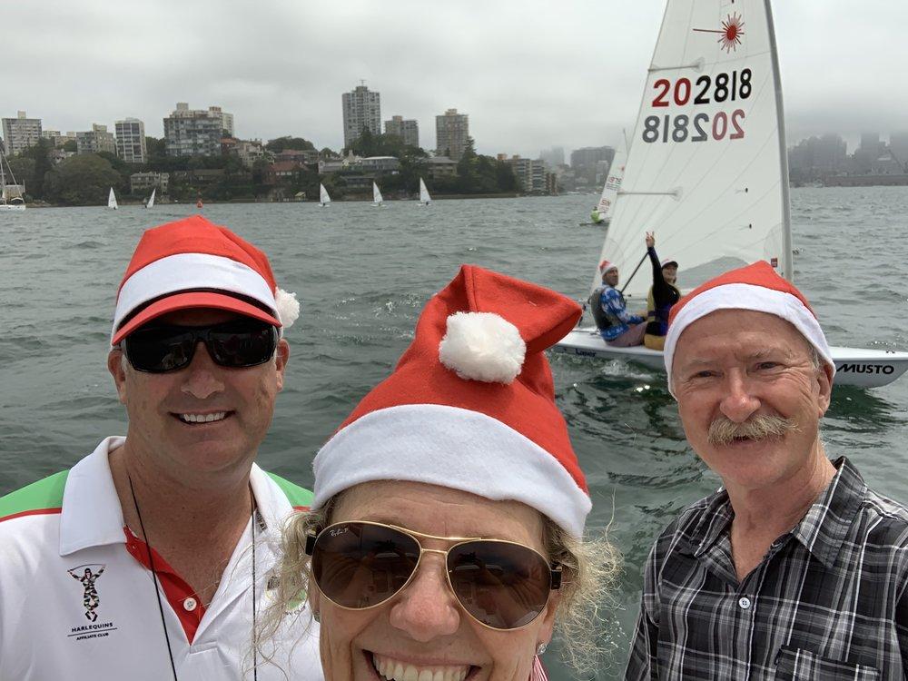 Santa's Sailing Elves.  Photo by Clare Alexander.