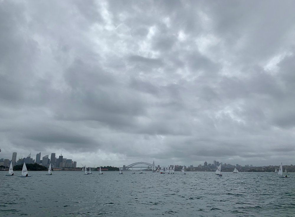 A Grey Summer's Day on the Harbour.  Photo by Clare Alexander.
