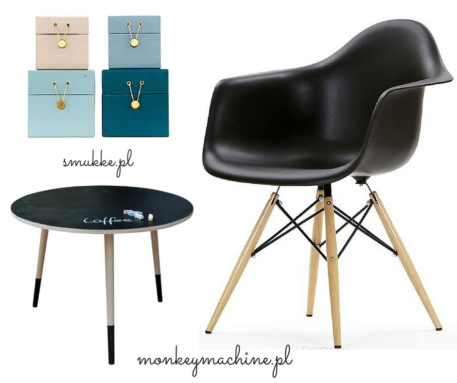 Krzesło, stolik:  monkeymachine.pl