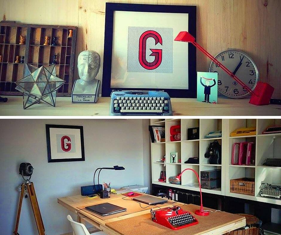 "fot.  decobazzar.com/loveletters,   plakat ""G"""